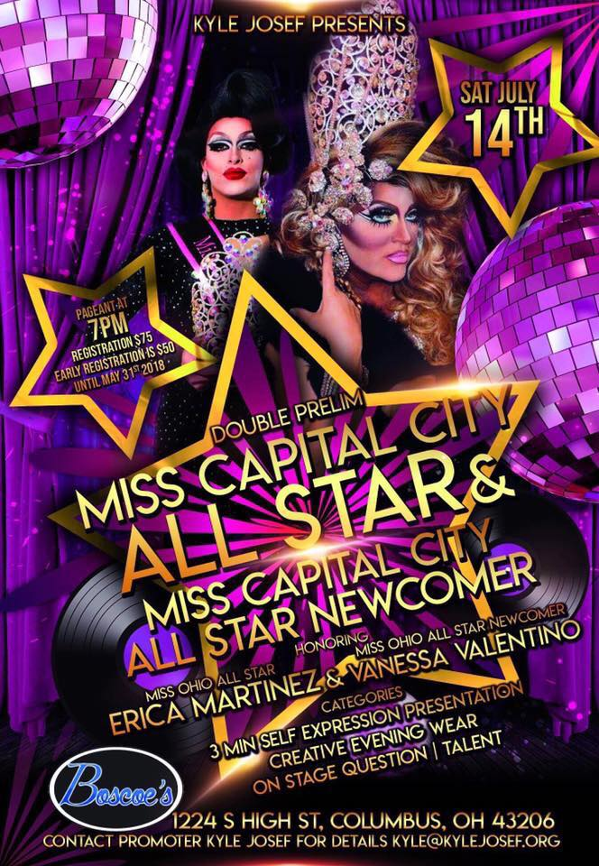 Show Ad | Miss Capital City All-Star and Miss Capital City All-Star Newcomer | Boscoe's (Columbus, Ohio) | 7/14/2018