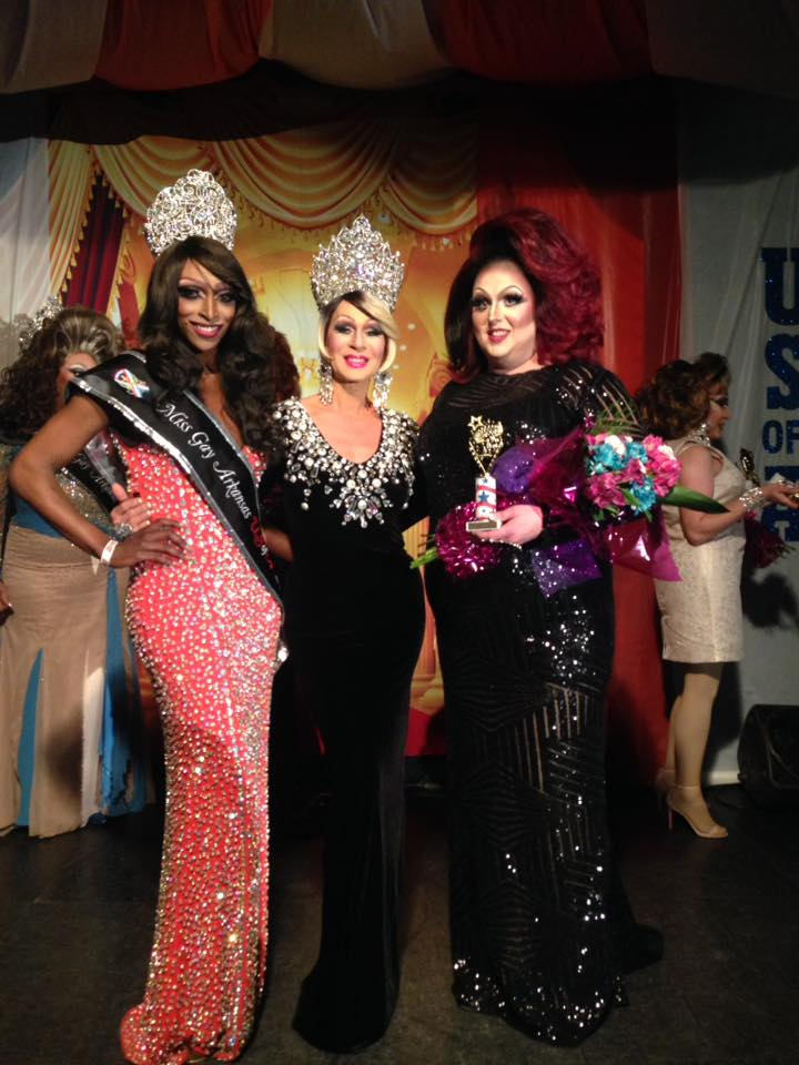Pariis Nycole Davenport Brooks (Miss Gay Arkansas USofA 2018), Roxie Hart (Miss Gay USofA 2017) and Makenna Michaels (1st Alternate to Miss Gay Arkansas USofA 2018) at Triniti Night Club in Little Rock, Arkansas on the night of March 2nd, 2018 at the Miss Gay Arkansas USofA pageant.