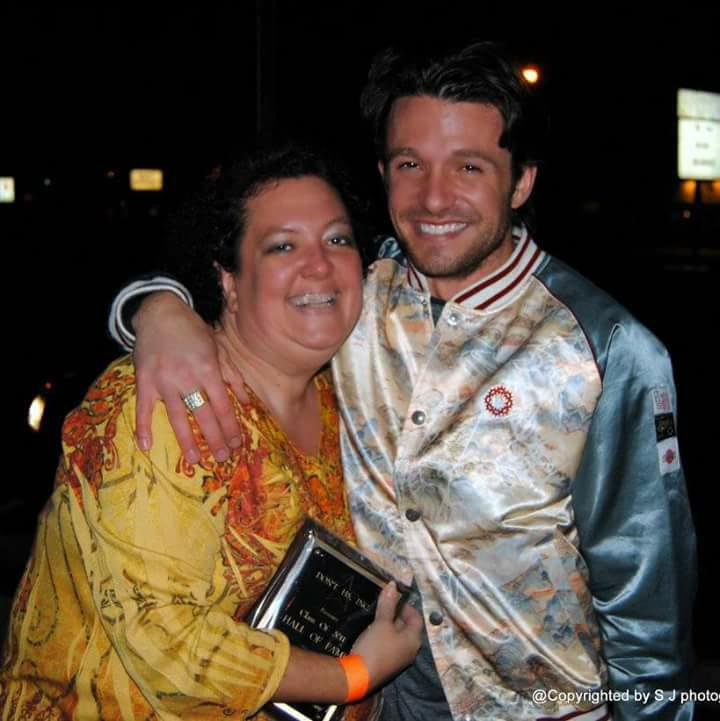 Sharon Jones and Jason Dottley after receiving her 2011 Don't H8 Hall of Fame Award.