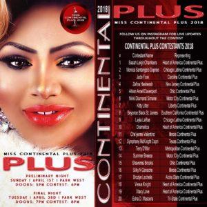 Miss Continental Plus 2018 Contestants