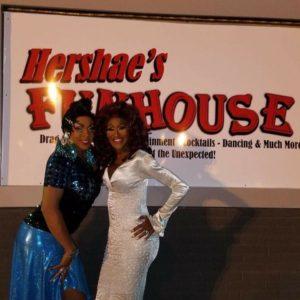 Hershae Chocolatae and Misty Knight at Hershae's Funhouse in Toledo, Ohio.