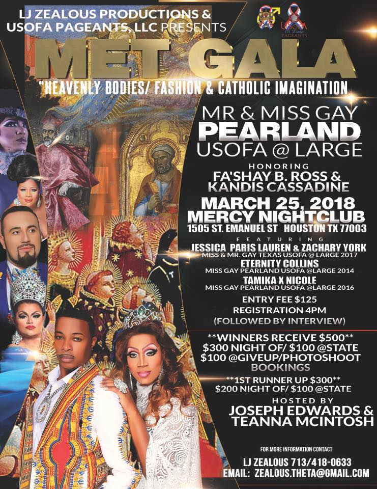 Ad | Mr. and Miss Pearland USofA at Large | Mercy Nightclub (Houston, Texas) | 3/25/2018
