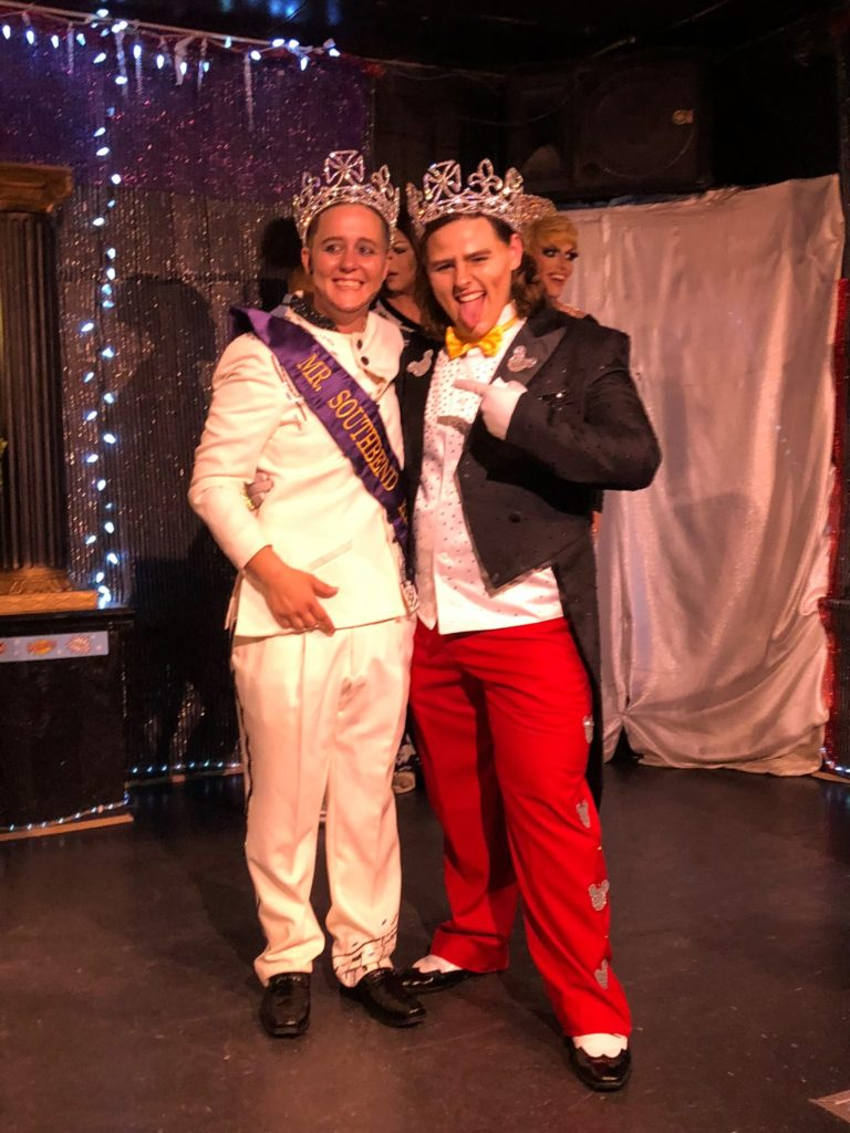 Austen Lee (newly crowned Mr. Southbend King 2018) and V-Master Chad (Mr. Southbend King 2017) at Southbend Tavern in Columbus, Ohio on evening of May 28th, 2018.