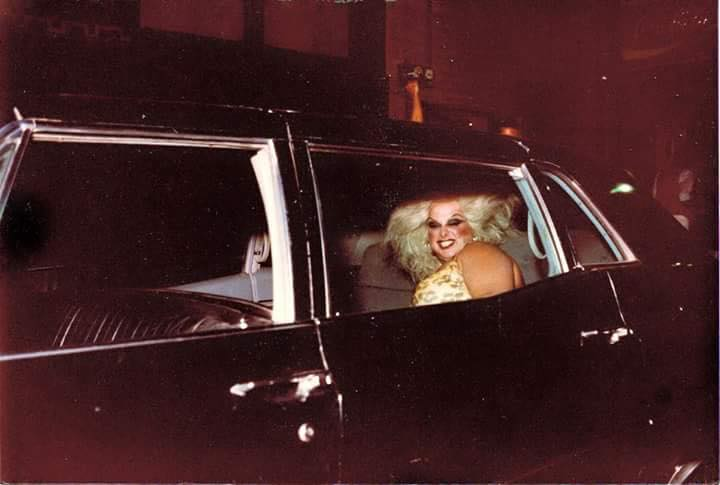 Divine arriving at Rudely Elegant in Columbus, Ohio. Photo by Randy Steele (1983)