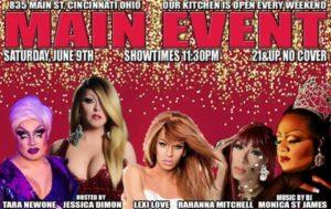 Show Ad | Main Event (Cincinnati, Ohio) | 6/9/2018
