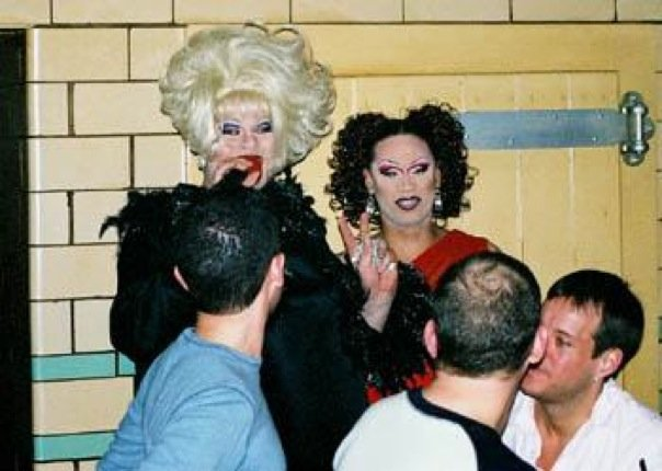 Nina West and Andria Michaels in undated photo taken at Havana Video Lounge (Columbus, Ohio).