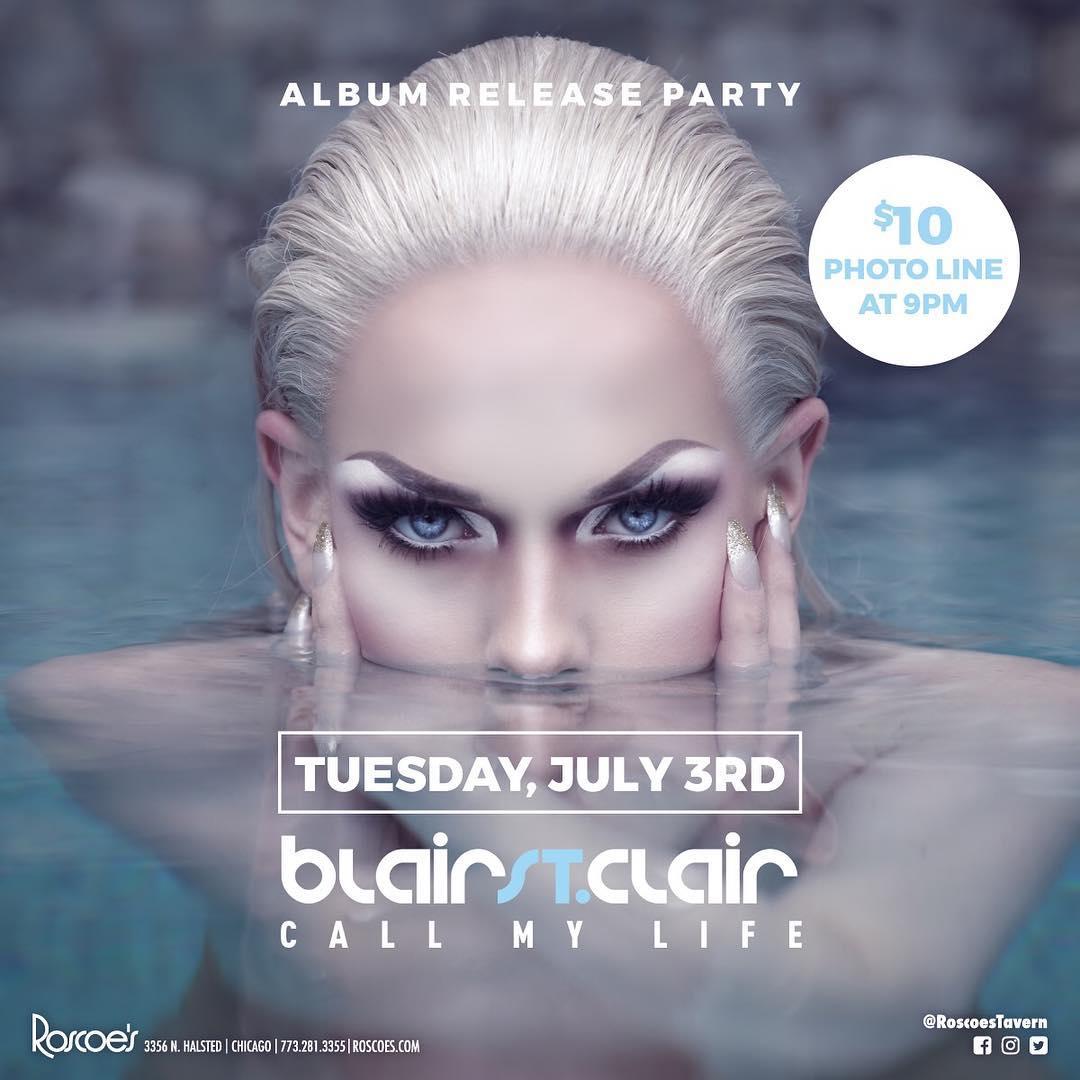 Show Ad | Blair St. Clair Album Release Party | Roscoe's Tavern (Chicago, Illinois) | 7/3/2018