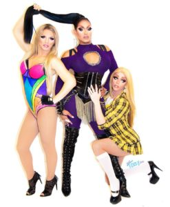 Derrick Barry, Mariah Balenciaga and Morgan McMichaels - Photo by Just Toby