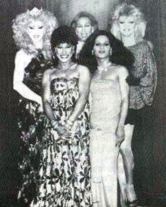 From left: then-reigning MGA 1984 Tasha Kohl; MGA 1981 Lady Shawn; MGA 1980 Hot Chocolate; MGA 1978 Jimi Dee; and MGA 1977 Michael Andrews.