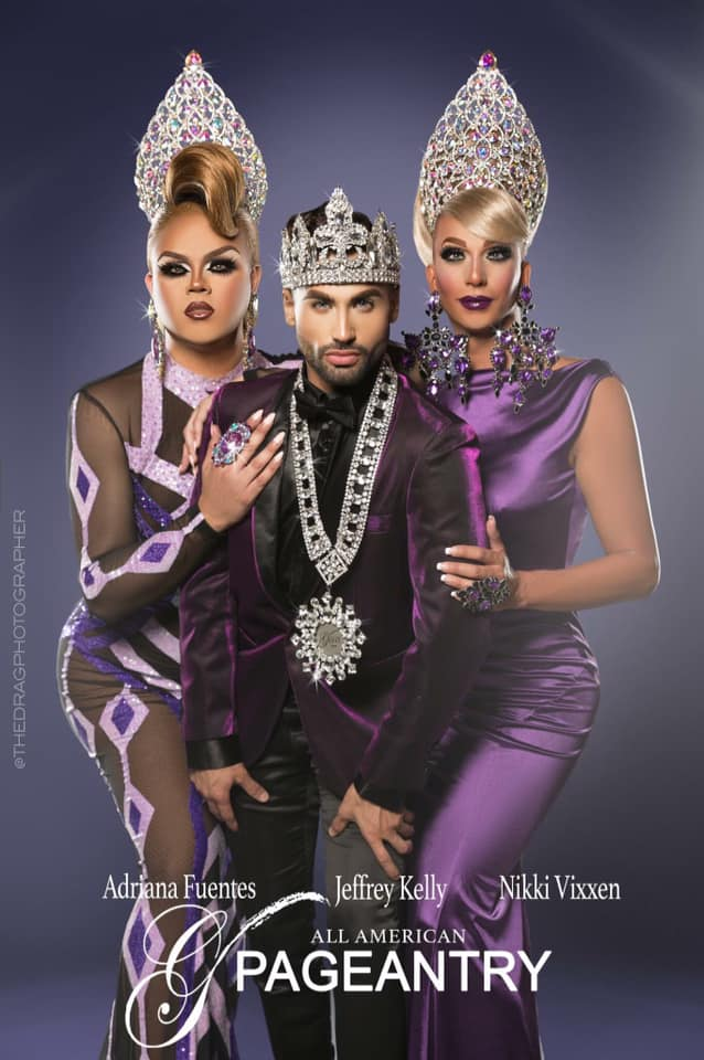 Adriana Fuentes, Jeffrey Kelly and Nikki Vixxen - Photo by The Drag Photographer