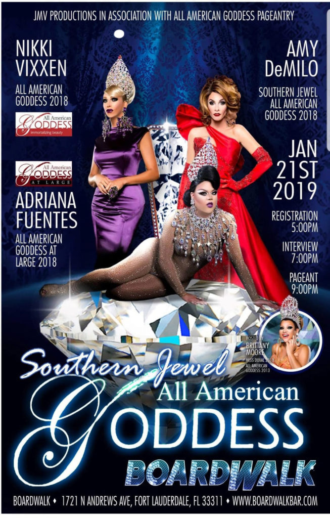 Ad | Southern Jewel All American Goddess | Boardwalk (Fort Lauderdale, Florida) | 1/21/2019