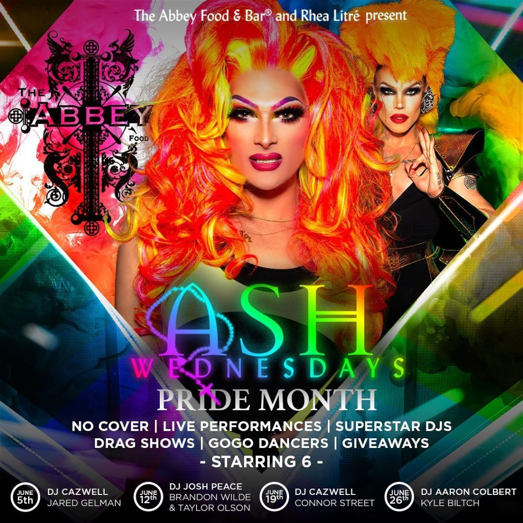 Ad | The Abbey (West Hollywood, California) | 6/5/2019, 6/12/2019, 6/19/2019, 6/26/2019