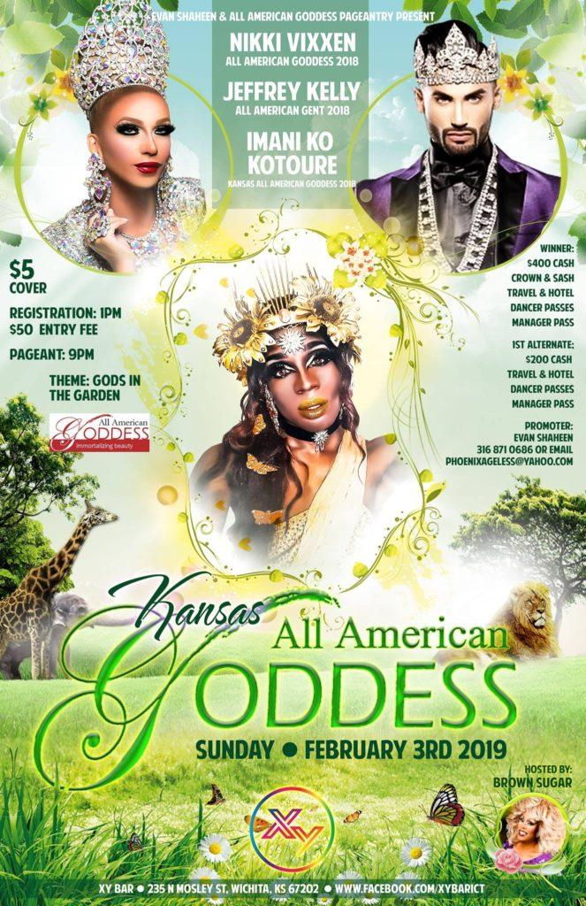 Ad | Kansas All American Goddess | XY Bar (Wichita, Kansas) | 2/3/2019