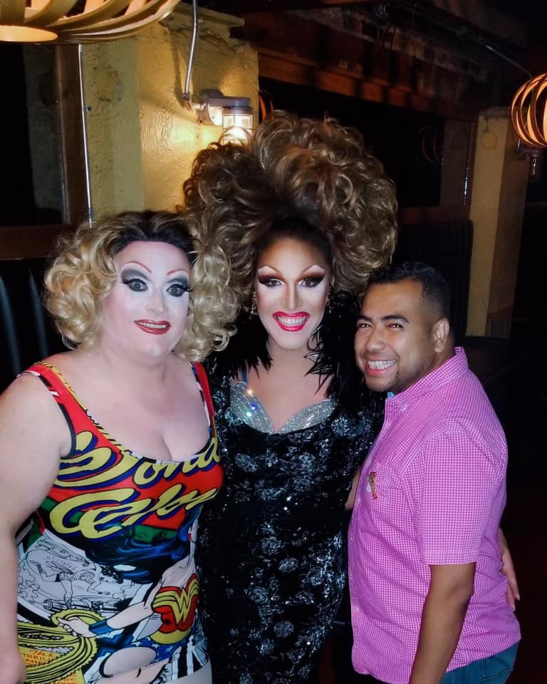 Vivi Velure, Valerie Valentino and Gerson Danilo at Miss Gay Ohio America 2019 pageant.