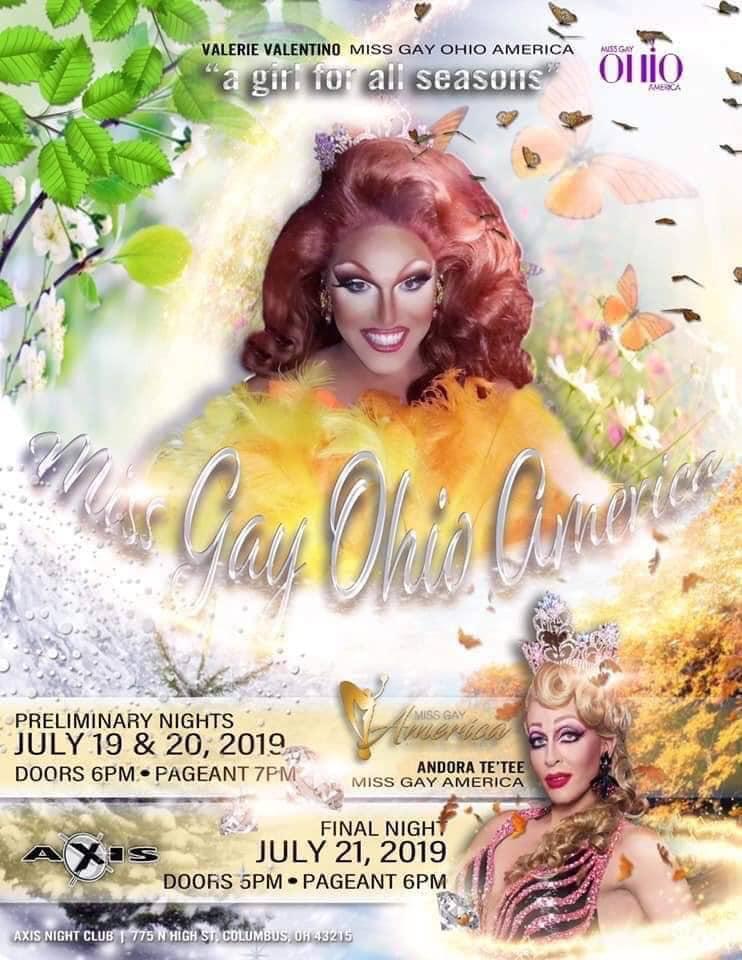 Ad | Miss Gay Ohio America | Axis Nightclub (Columbus, Ohio) | 7/19-7/21/2019