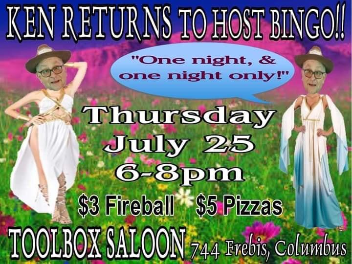 Ad | Toolbox Saloon (Columbus, Ohio) | 7/25/2019