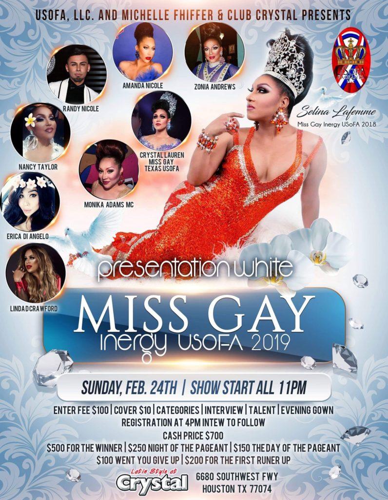 Ad | Miss Gay Inergy USofA | Crystal (Houston, Texas) | 2/24/2019