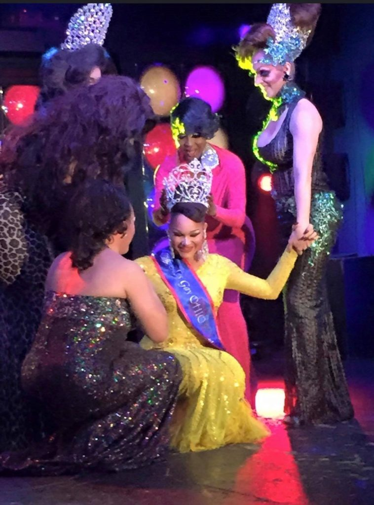 Amaya Sexton being crowned Miss Gay Ohio USofA 2015