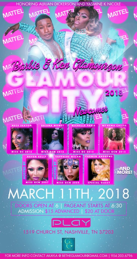 Ad | Mr. and Miss Glamour City Newcomer | Play (Nashville, Tennessee) | 3/11/2018