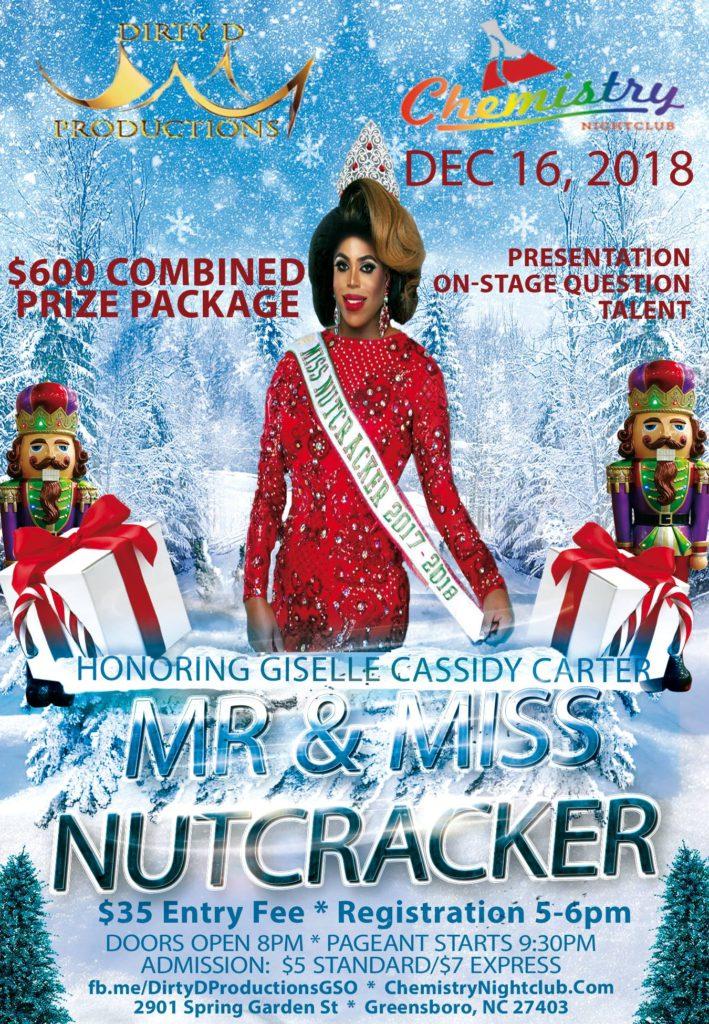 Ad | Mr and Miss Nutcracker | Chemistry Nightclub (Greensboro, North Carolina) | 12/16/2018