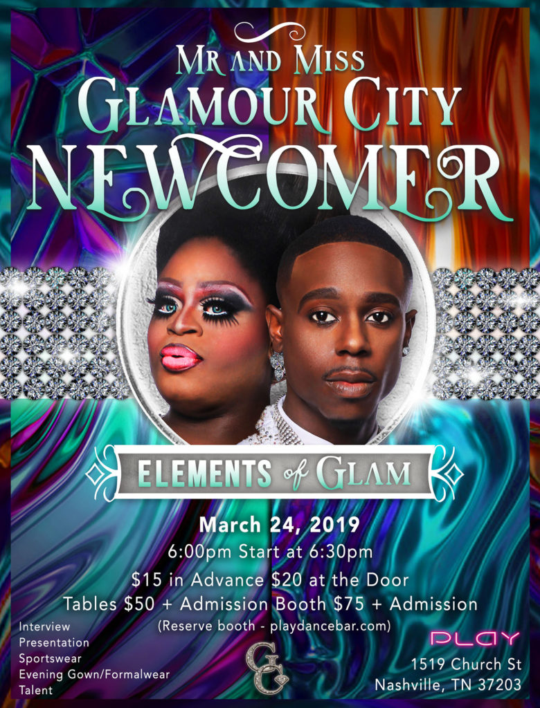 Ad | Mr. and Miss Glamour City Newcomer | Play (Nashville, Tennessee) | 3/24/2019