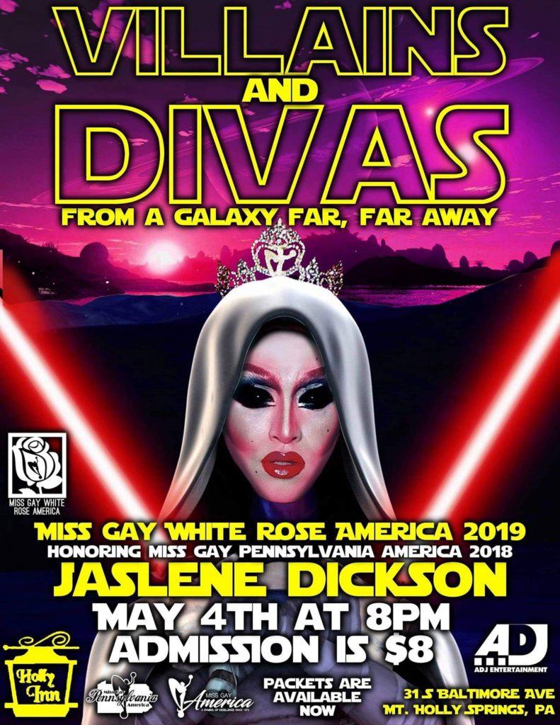 Ad | Miss Gay White Rose America | Holly Inn (Mt. Holly Springs, Pennsylvania) | 5/4/2019