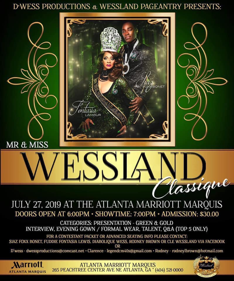 Ad | Mr. and Miss Wessland Classique | Atlanta Marriott Marquis (Atlanta, Georgia) | 7/27/2019