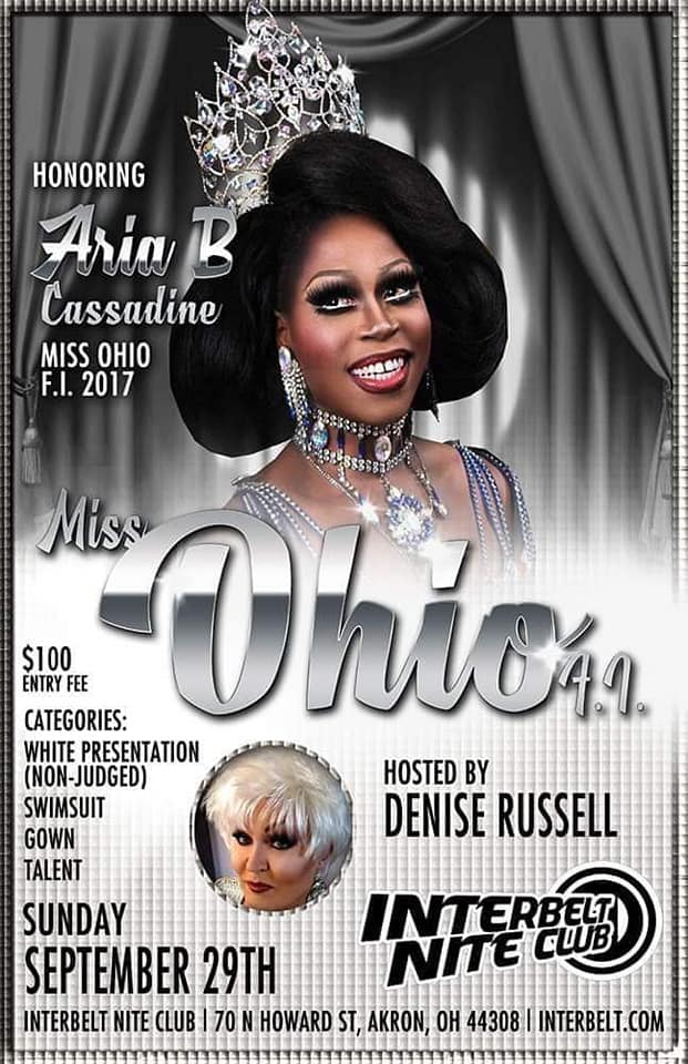 Ad | Miss Ohio F.I. | Interbelt Nite Club (Akron, Ohio) | 9/29/2019