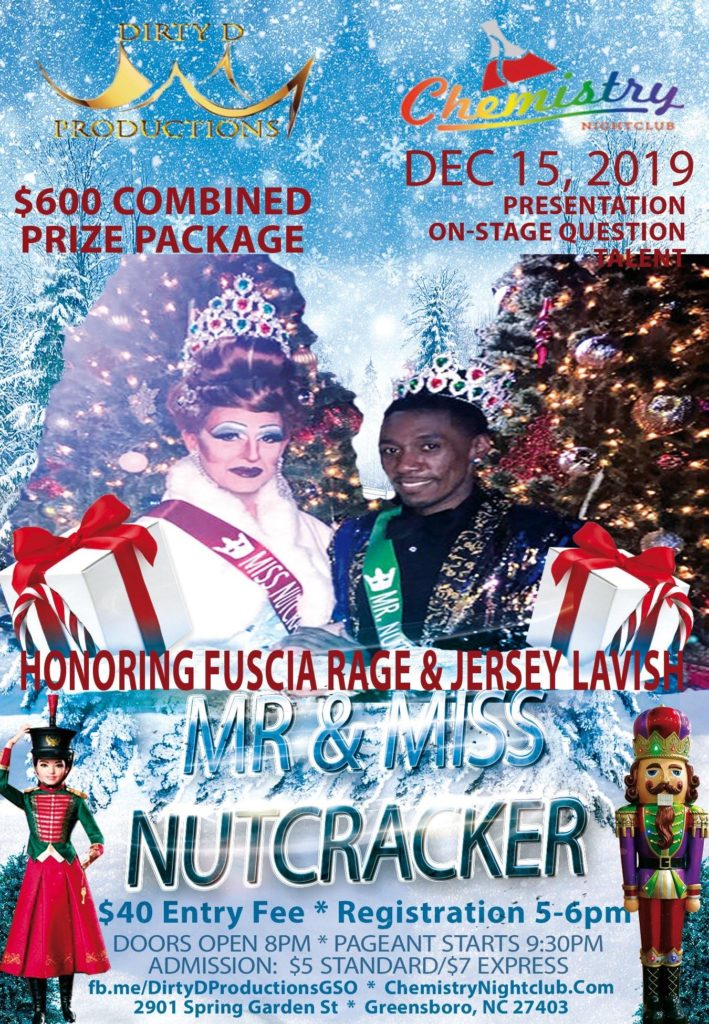 Ad | Mr and Miss Nutcracker | Chemistry Nightclub (Greensboro, North Carolina) | 12/15/2019