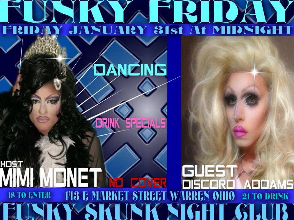Ad | Funky Skunk Nite Club (Warren, Ohio) | 1/31/2014
