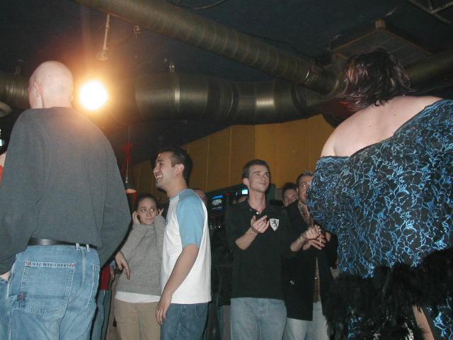 Nina West and Crowd | Union Station Video Cafe (Columbus, Ohio) | 11/27/2002