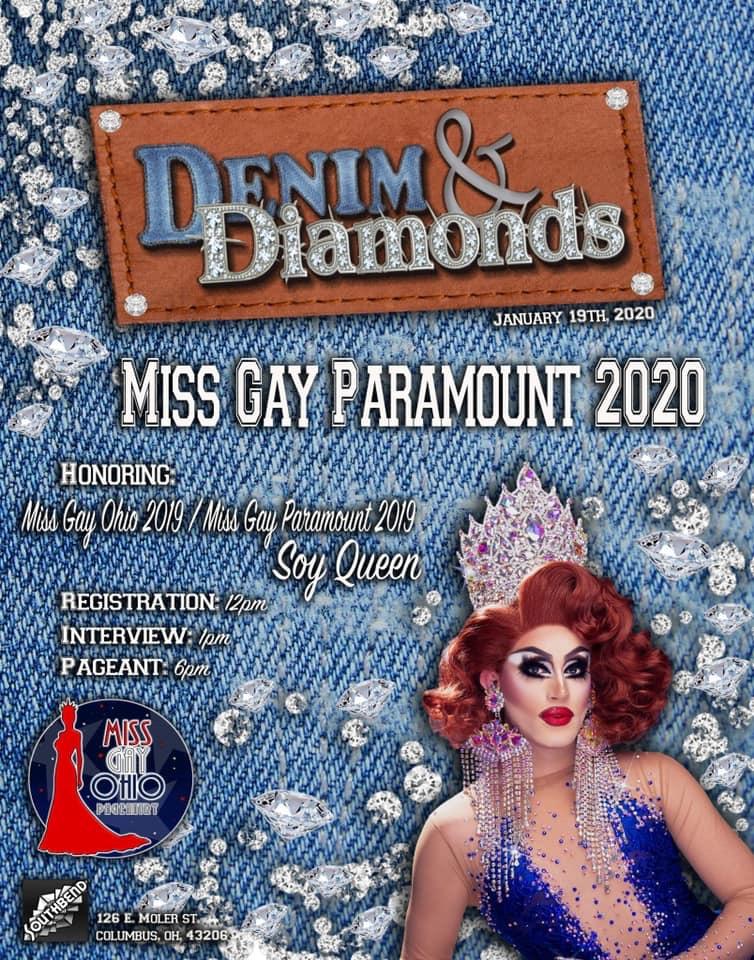 Ad | Miss Gay Paramount Ohio | Southbend Tavern (Columbus, Ohio) | 1/19/2020
