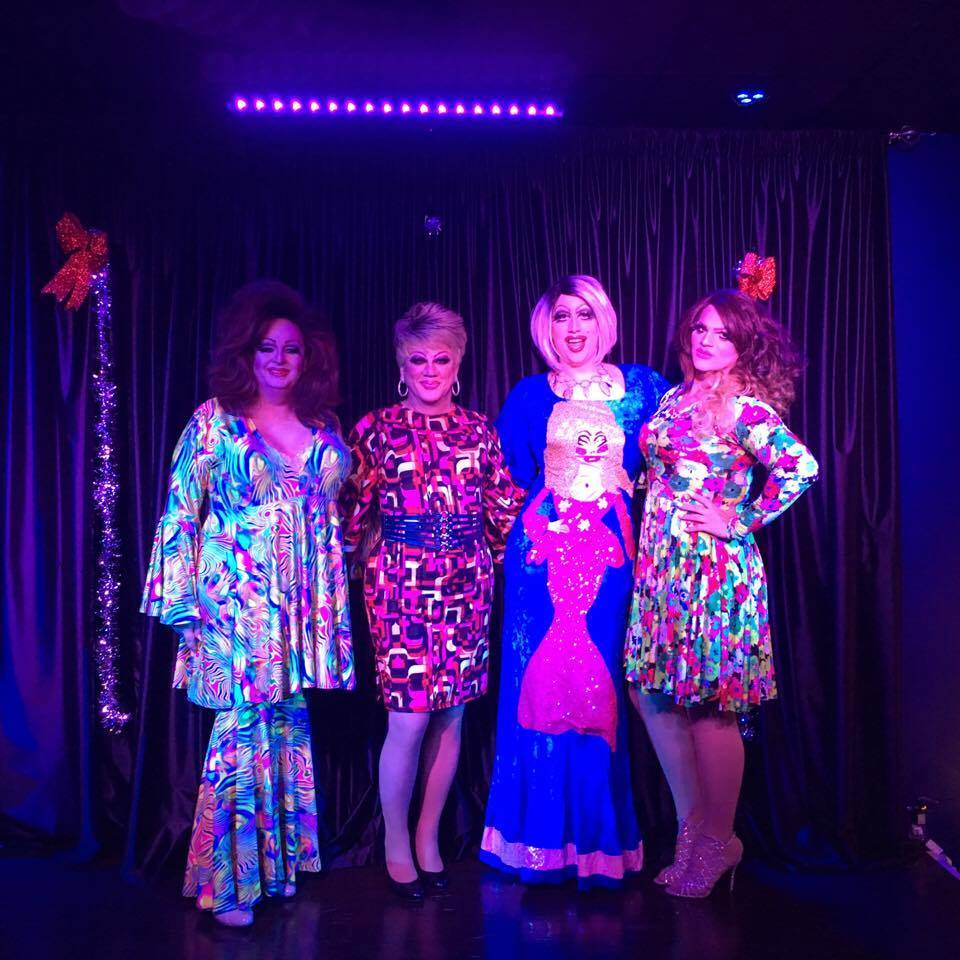 Alexis O'Hara, Hellin Bedd, Gretta Goodbottom and Ava Aurora Foxx | Boscoe's (Columbus, Ohio) | December 2016