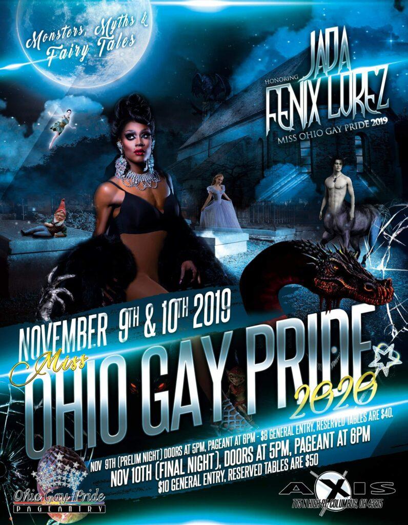 Ad | Miss Ohio Gay Pride | Axis Nightclub (Columbus, Ohio) | 11/9 - 11/10/2019