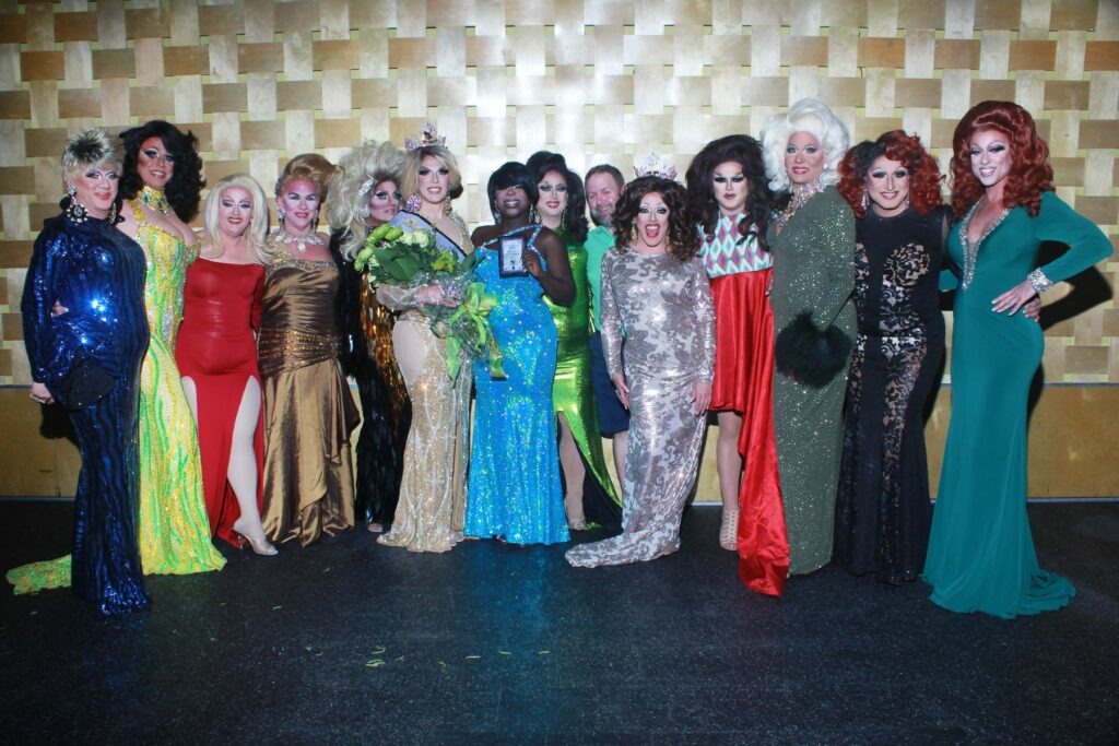 Hellin Bedd, Erika Evans, Vivi Velure, Erica Rae O'Hara, Erica Martinez, Valerie Taylor, Cherry Poppins, Tiffanie Taylor, Mike Scott, Mary Nolan, Selena T. West, Sonya Ross, Virginia West and Deva Station | Miss Gay Ohio America 2017 | Axis Nightclub (Columbus, Ohio) | 7/9/2017