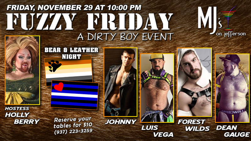 Ad | Fuzzy Friday | MJ's on Jefferson | 11/29/2009