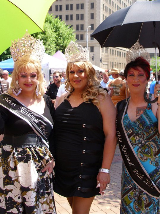 Alexis O'Hara (Miss National Pride), Macy Kirkland (Miss Indiana National Pride) and Sinthia D. Meanor (Miss Ohio National Pride) at the Dayton Pride Festival (Dayton, Ohio) | 6/4/2011