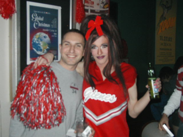 Chris Equizi and Fancy Punasti | OSU Michigan Pep Rally | Union Station Video Cafe (Columbus, Ohio) | 11/23/2002