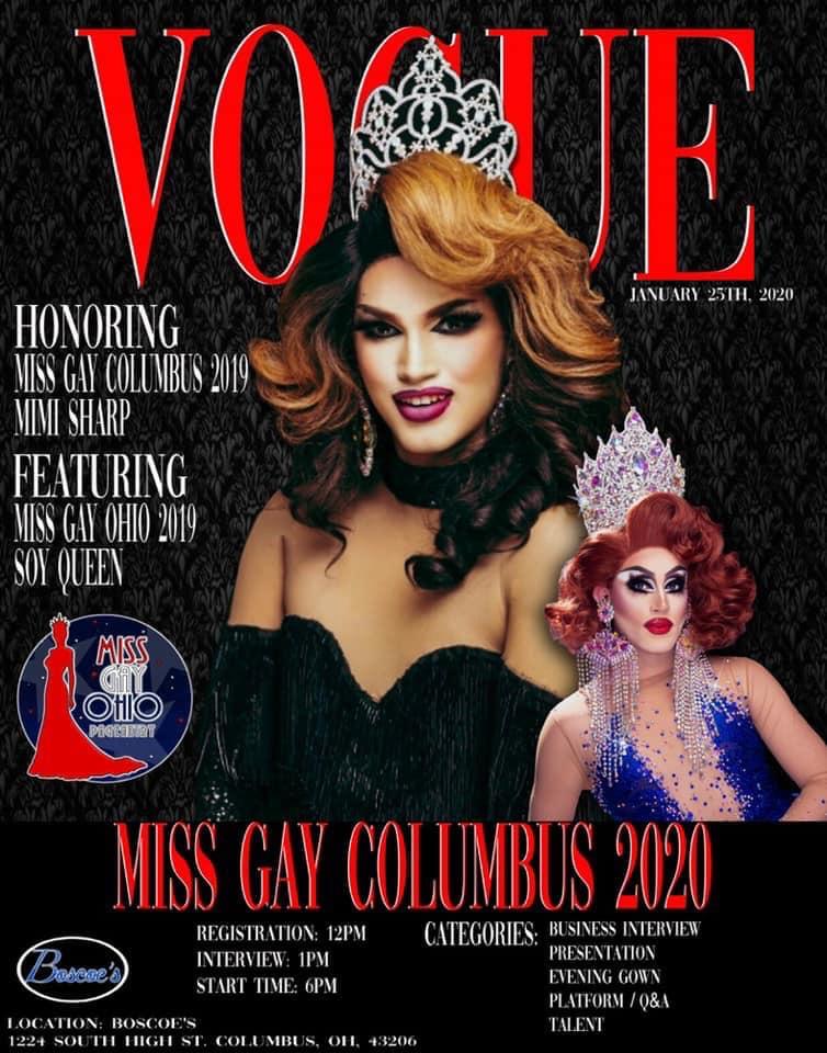 AD | Miss Gay Columbus Ohio | Boscoe's (Columbus, Ohio) | 1/25/2020