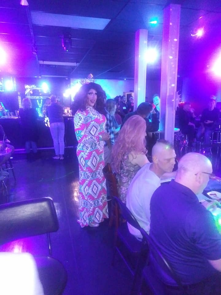 Courtney Kelly at Judges Table | Miss Gay Heart of Ohio America | Boscoe's (Columbus, Ohio) | 1/11/2020