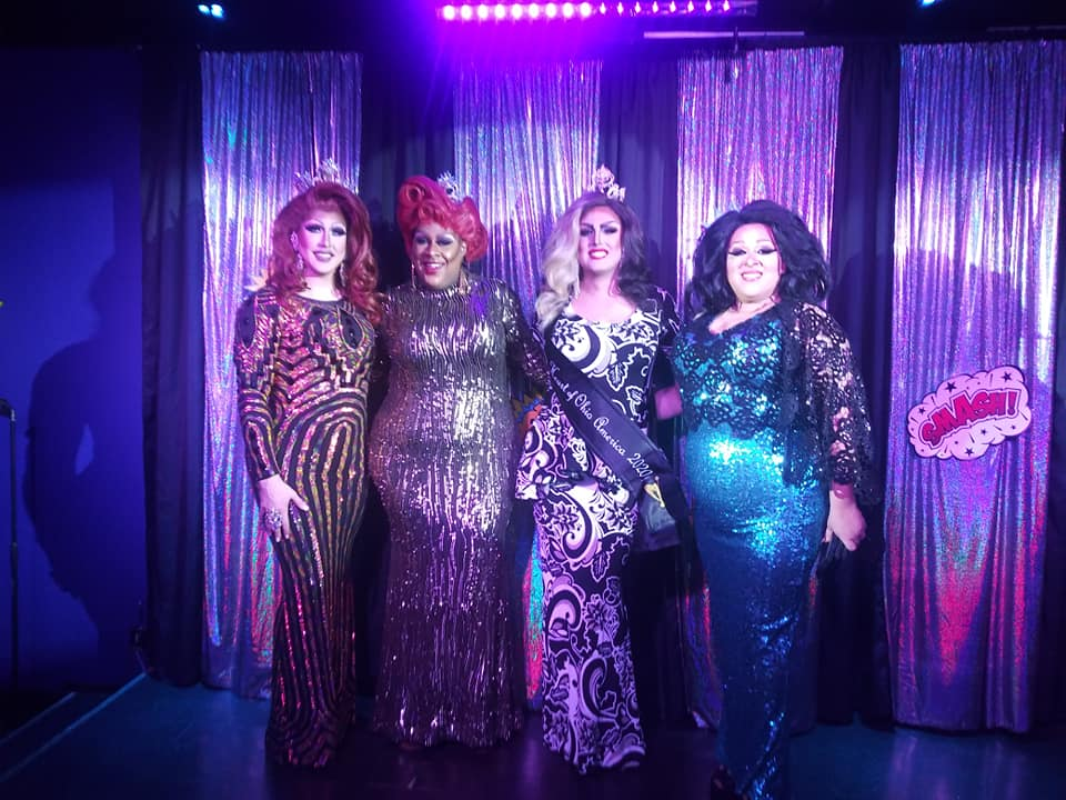 Courtney Kelly, Deja Dellataro, Scarlett Kelly and National Holiday | Miss Gay Heart of Ohio America | Boscoe's (Columbus, Ohio) | 1/11/2020