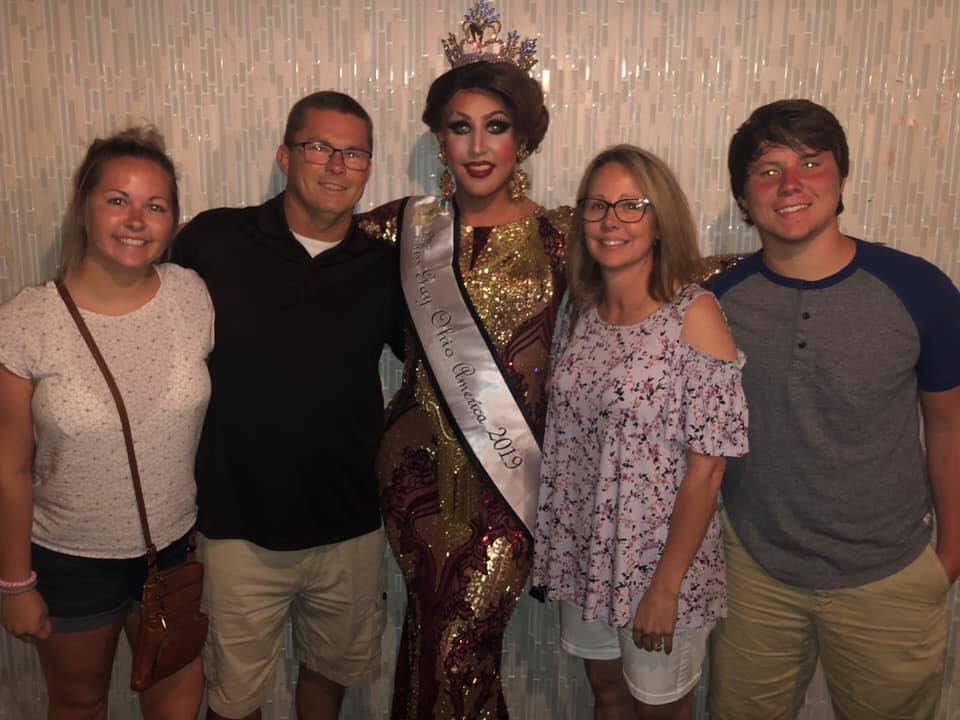 Courtney Kelly and her family | Miss Gay Ohio America | Axis Nightclub (Columbus, Ohio) | 7/19-7/21/2019