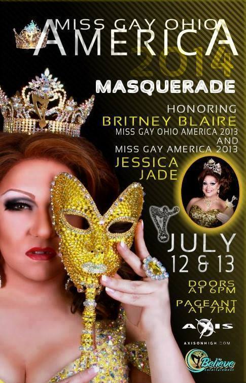 Ad | Miss Gay Ohio America | Axis Nightclub (Columbus, Ohio) | 7/12-7/13/2014