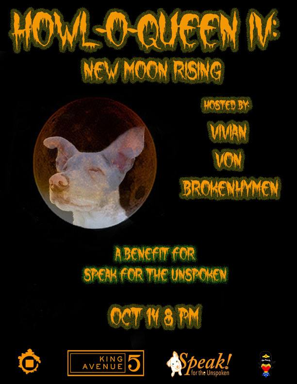 Ad | Howl-O-Queen IV: New Moon Rising | King Avenue 5 (Columbus, Ohio) | 10/14/2017