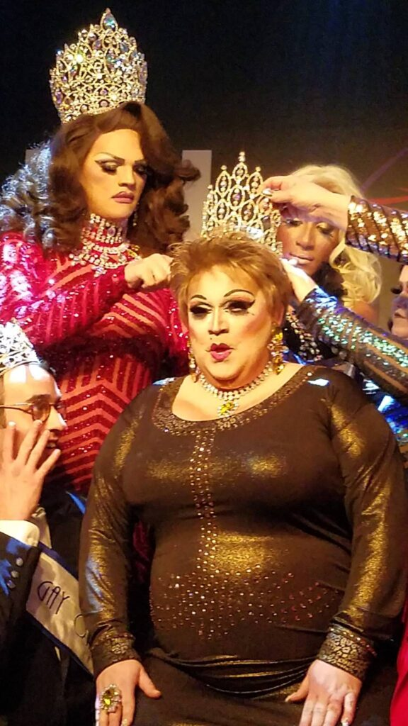 Crowning of Tori Daniels with Ava Aurora Foxx and Nadia Nyce in background | Miss Gay Miami Valley Ohio | MJ's on Jefferson (Dayton, Ohio) | 12/9/2017