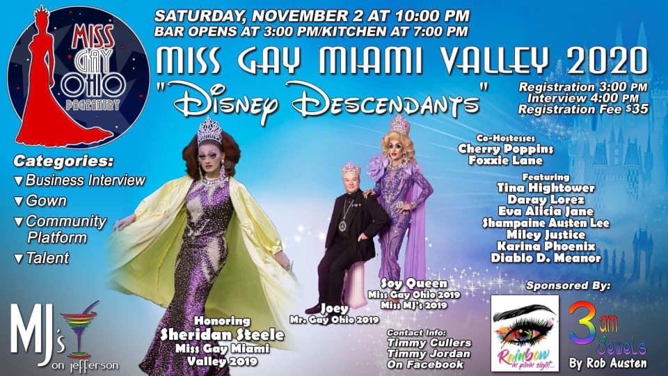 Ad   Miss Gay Miami Valley Ohio   MJ's on Jefferson (Dayton, Ohio)   11/2/2019