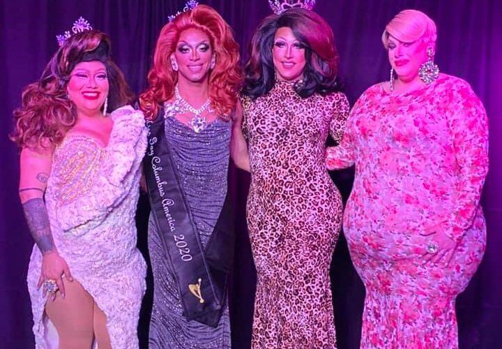 Hiliana Perez, Yasmine Kelly, Courtney Kelly and Mystical Divine | Miss Gay Columbus America | A.W.O.L. (Columbus, Ohio) | 2/7/2020