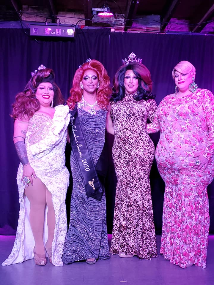 Hiliana Perez, Yasmine Kelly, Courtney Kelly and Mystical Divine | Miss Gay Columbus America | A.W.O.L. (Columbus, Ohio) | 2/7/2020