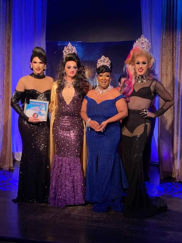 Mimi Sharp, Sheridan Steele, Gaia Naturi and Soy Queen | Miss Gay Miami Valley Ohio | MJ's on Jefferson (Dayton, Ohio) | 11/2/2019