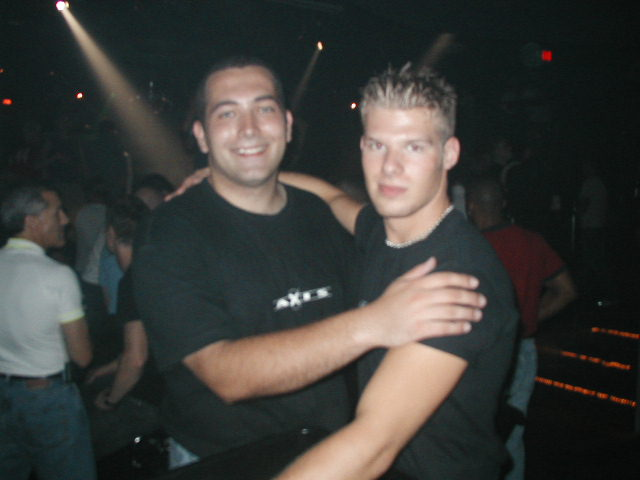 Rob (on left) and unknown | Labor Day Weekend | Axis Nightclub (Columbus, Ohio) | 8/30-9/1/2002